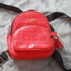 Steve Madden Red Backpack